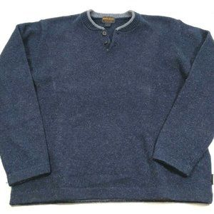 Woolrich Mens Size Large Wool Blend Sweater Navy